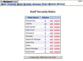 Staff Security Roles